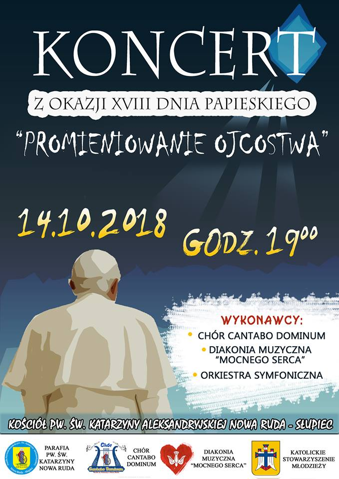 Koncert Papieski w Nowej Rudzie Słupcu – zaproszenie